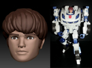 Daniel Homage Exosuit Head For TF FOC JAZZ in Full Color Sandstone