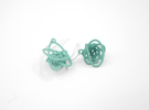 Sprouted Spiral Earrings in White Strong & Flexible