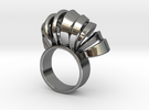 Nasu Ring Size 7 in Premium Silver