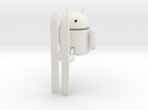 Android Robot on Skis in White Strong & Flexible