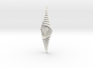 The bouncing heart 15cm in White Strong & Flexible