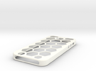 Iphone5 Case Waben in White Strong & Flexible Polished