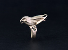 """The """"Moonchaser"""" ring (Metal) in Stainless Steel"""