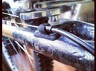 Bicycle Cable Stop 35mm - Bamboo / Carbon Frame in Black Strong & Flexible