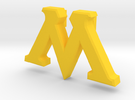 M Pin (No Hole)  in Yellow Strong & Flexible Polished