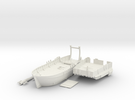 Medieval Landing Ship in White Strong & Flexible