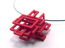 Squared Pendant in Red Strong & Flexible Polished
