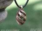 Spiral Spheroid Pendant in Stainless Steel