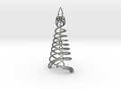 Double Helix Pendant in Polished Silver