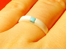 1-bit ring (US6/⌀16.5mm) in White Strong & Flexible Polished