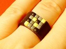16-bit ring (US9/�18.9mm) in Black Strong & Flexible
