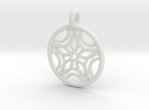 Sponde pendant in White Strong & Flexible