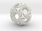 Shell Icosahedron in White Strong & Flexible