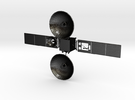Tdrs Tracking and Data Relay Satellite in Matte Black Steel