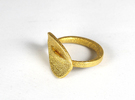 Jasmine Ring Size 5.5 in Matte Gold Steel