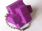 QBurr Keychain Puzzle in Purple Strong & Flexible Polished
