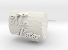 Peters Cuff Links in White Strong & Flexible