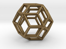 Rhombic Triacontahedron Pendant in Polished Bronze