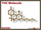 THC Molecule Keychain in Stainless Steel