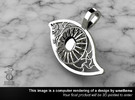 Eye pendant  in Polished Silver