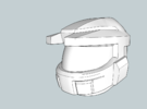 Model 5 Super Soldier Project Helmet in White Strong & Flexible