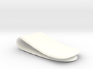 Money Clip in White Strong & Flexible Polished