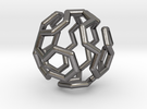 Buckyball Cycle Pendant in Polished Nickel Steel