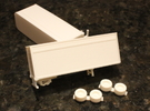 1:160 N Scale 28' Pup Trailer Parcel Service x2 in Frosted Ultra Detail