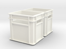 1:6 scale Beverage Crates Megahouse Style X2 in White Strong & Flexible Polished