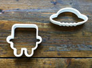 robot cookie cutters in White Strong & Flexible Polished