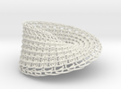 Knitted Mobius in White Strong & Flexible