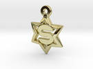 Jewish Star - S in 18K Gold Plated