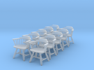 1:48 Windsor Low Back Chair (Set of 10) in Frosted Ultra Detail