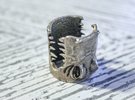 Gator Ring (US Size 7) in Stainless Steel
