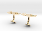 Wakeboard Cufflinks in 14k Gold Plated