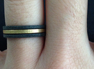 Minimalist Spacer Ring (just under 2mm) Size 5 in Raw Brass