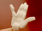 VF-1 Valkyrie Hands - B-Set in White Strong & Flexible Polished