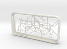 London subway/underground map iPhone 5c case in White Strong & Flexible