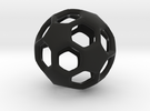 MiniSoccerBall in Black Strong & Flexible