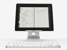 The iPad Stand in White Strong & Flexible Polished