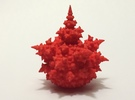 Amazing fractal bulb 5cm in Red Strong & Flexible Polished