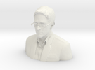 Edward Snowden Desktop Portrait in White Strong & Flexible