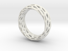 Trous Ring Size 8 in White Strong & Flexible