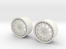 Rims For Lancia Delta S4 Scale 1-10  in White Strong & Flexible