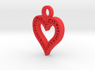 XO Heart Keyring in Red Strong & Flexible Polished