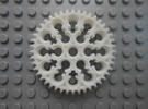 LEGO®-compatible alternative 44-tooth bevel gear R in White Strong & Flexible