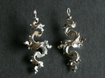 Dragon Earrings 4cm - without hooks