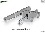 Cannon and Balls (n-scale)