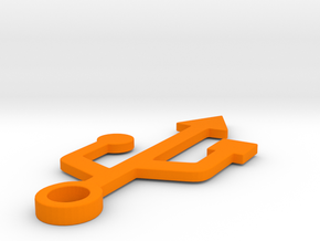 USB in Orange Strong & Flexible Polished