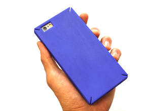 Square iPhone6/6S 4.7inch case.stl in Blue Strong & Flexible Polished